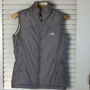 North Face Reversible Gray/White Vest